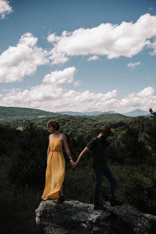 Justyn and Cj - Boone North Carolina - Blue Ridge Mountains - Adventure Couple Session - White Sails Creative_36.JPG