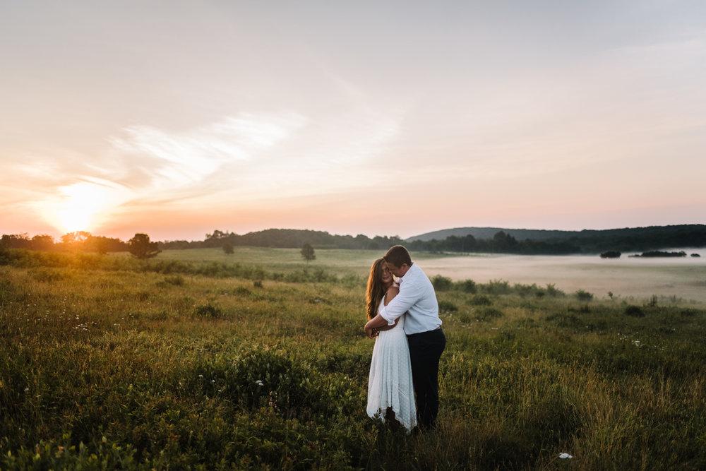 Erin and Matt - Shenandoah National Park Adventurous Sunrise Engagement Couple Photos - White Sails Creative_20.JPG