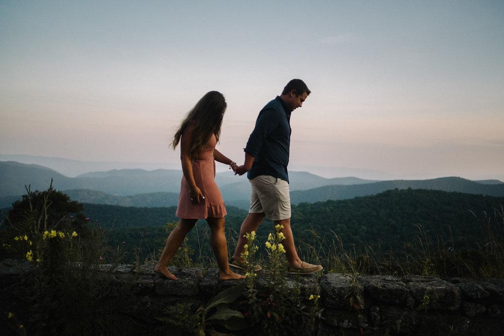 Erin and Matt - Shenandoah National Park Adventurous Sunrise Engagement Couple Photos - White Sails Creative_21.JPG