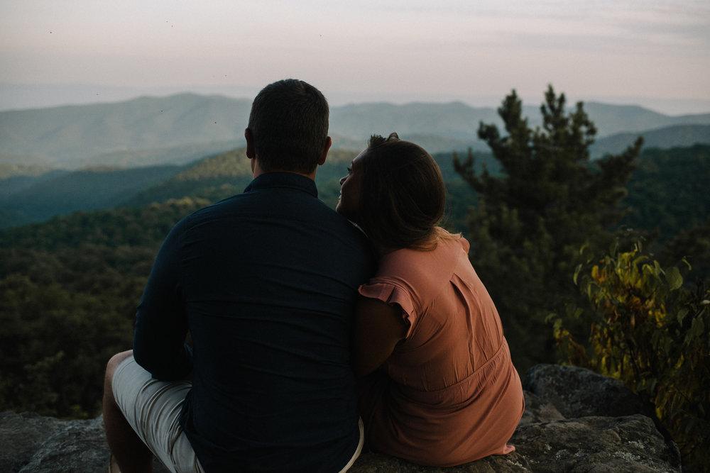 Erin and Matt - Shenandoah National Park Adventurous Sunrise Engagement Couple Photos - White Sails Creative_24.JPG