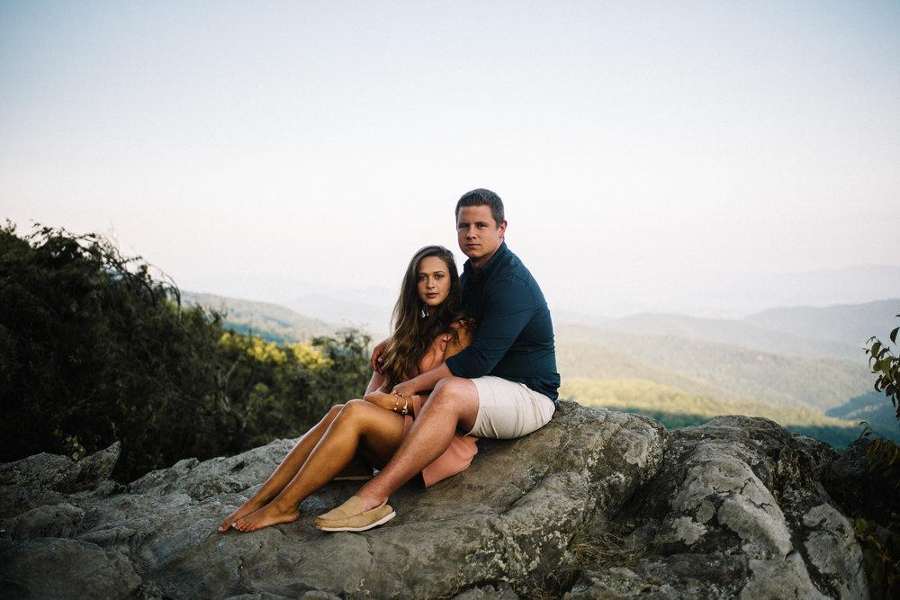 Erin and Matt - Shenandoah National Park Adventurous Sunrise Engagement Couple Photos - White Sails Creative_27.JPG