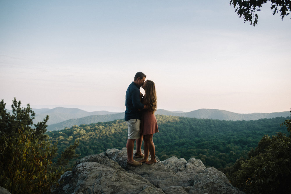 Erin and Matt - Shenandoah National Park Adventurous Sunrise Engagement Couple Photos - White Sails Creative_28.JPG