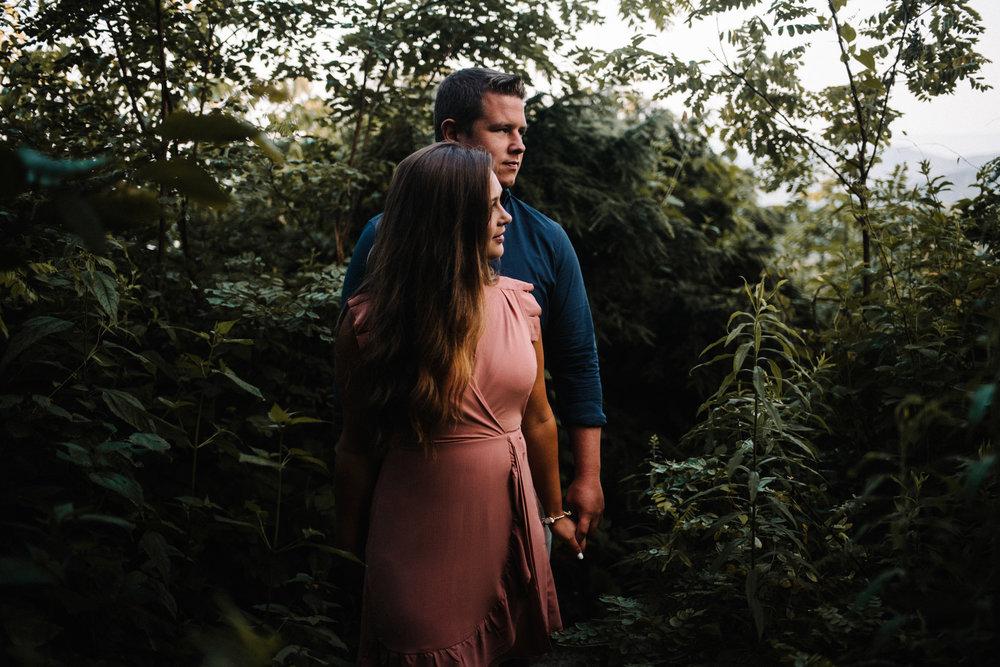 Erin and Matt - Shenandoah National Park Adventurous Sunrise Engagement Couple Photos - White Sails Creative_32.JPG