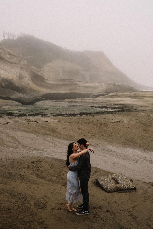Ruthie and Anthony - Foggy Oregon Coast Couple Adventure Session - White Sails Photography Creative_1.JPG