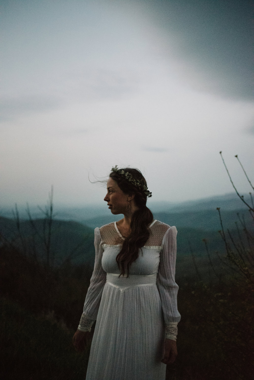 Sunrise Bridal Portraits Shenandoah National Park White Sails Creative
