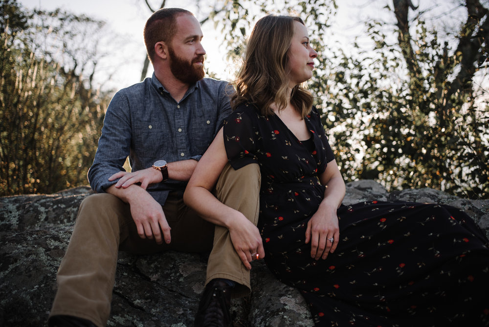 Molly and Zach Engagement Session - Fall Autumn Sunset Couple Adventure Session - Shenandoah National Park - Blue Ridge Parkway Skyline Drive - White Sails Creative_12.JPG
