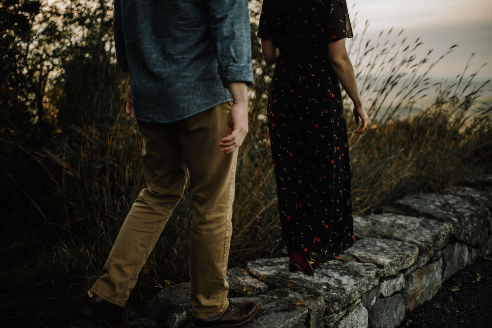 Molly and Zach Engagement Session - Fall Autumn Sunset Couple Adventure Session - Shenandoah National Park - Blue Ridge Parkway Skyline Drive - White Sails Creative_29.JPG