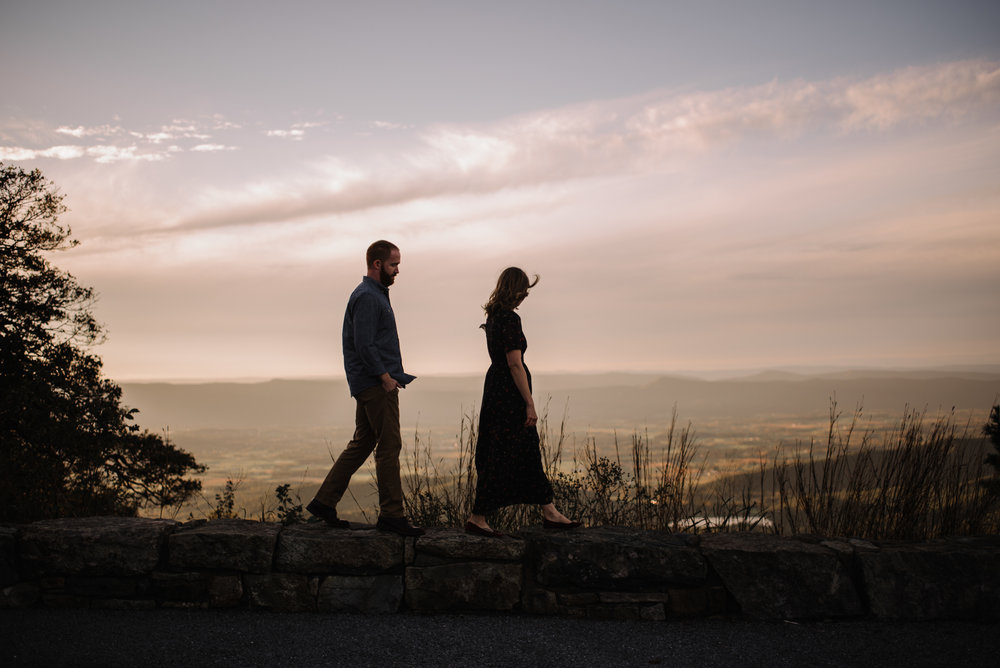 Molly and Zach Engagement Session - Fall Autumn Sunset Couple Adventure Session - Shenandoah National Park - Blue Ridge Parkway Skyline Drive - White Sails Creative_30.JPG