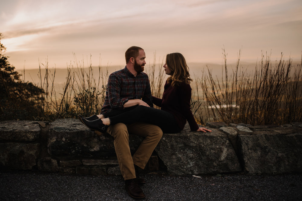 Molly and Zach Engagement Session - Fall Autumn Sunset Couple Adventure Session - Shenandoah National Park - Blue Ridge Parkway Skyline Drive - White Sails Creative_36.JPG
