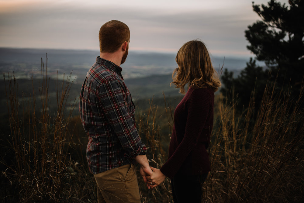 Molly and Zach Engagement Session - Fall Autumn Sunset Couple Adventure Session - Shenandoah National Park - Blue Ridge Parkway Skyline Drive - White Sails Creative_42.JPG