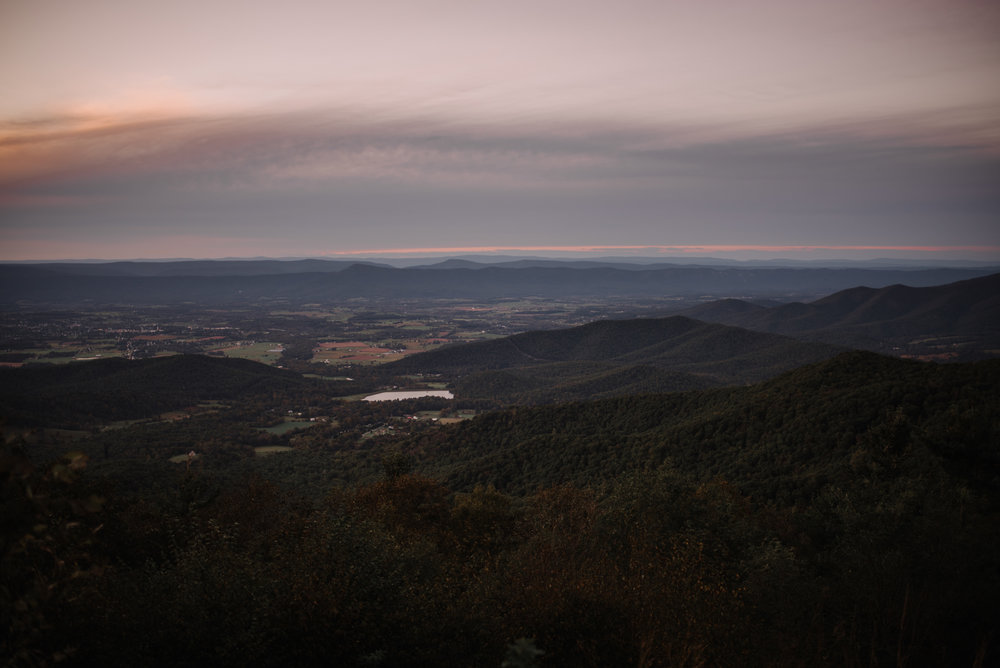 Molly and Zach Engagement Session - Fall Autumn Sunset Couple Adventure Session - Shenandoah National Park - Blue Ridge Parkway Skyline Drive - White Sails Creative_44.JPG