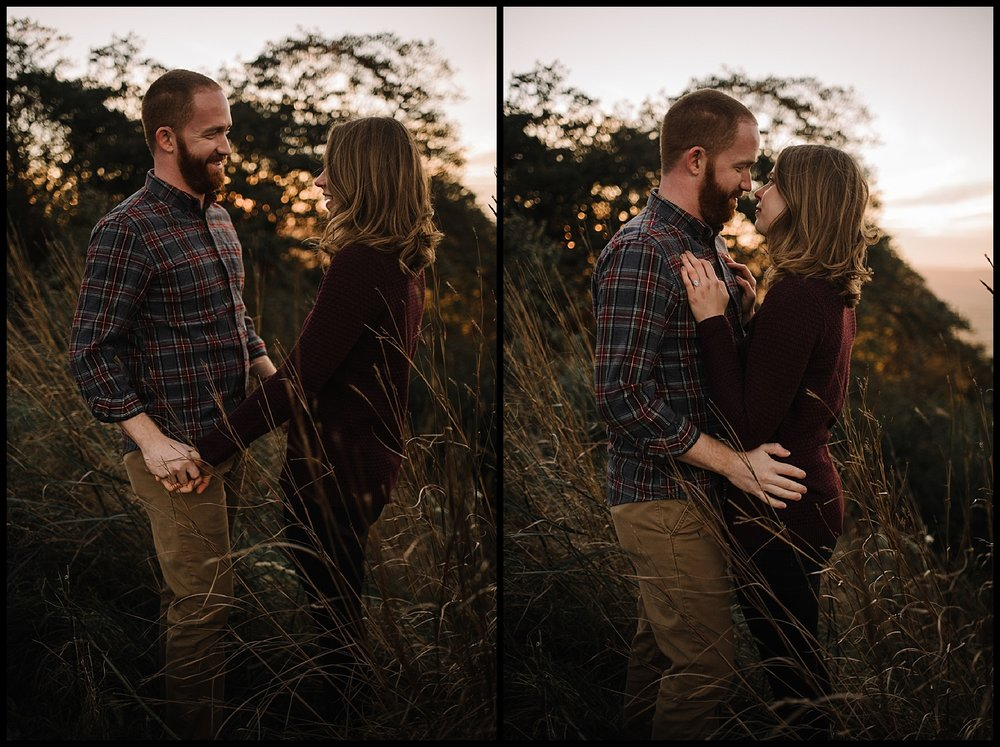 Molly and Zach Engagement Session - Fall Autumn Sunset Couple Adventure Session - Shenandoah National Park - Blue Ridge Parkway Skyline Drive - White Sails Creative_39.jpg