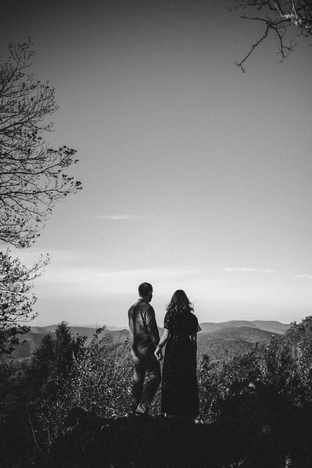 Molly and Zach Engagement Session - Fall Autumn Sunset Couple Adventure Session - Shenandoah National Park - Blue Ridge Parkway Skyline Drive - White Sails Creative.JPG