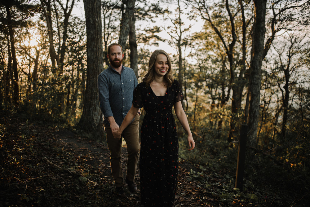 Molly and Zach Engagement Session - Fall Autumn Sunset Couple Adventure Session - Shenandoah National Park - Blue Ridge Parkway Skyline Drive - White Sails Creative_46.JPG