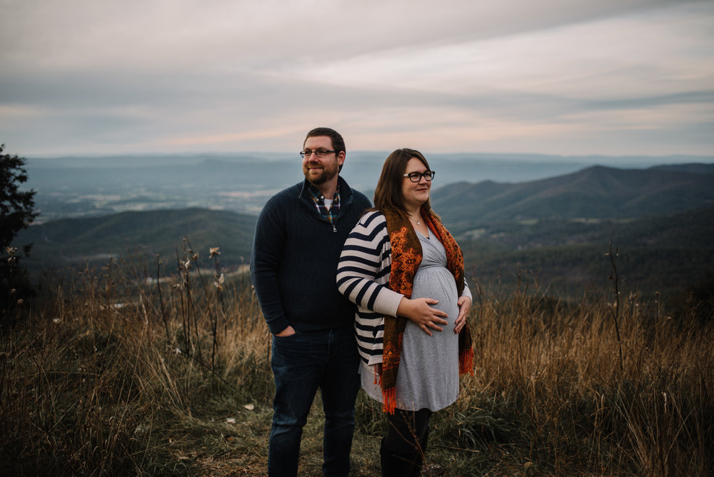 Sarah and Evan Maternity Session Shenandoah National Park Blue Ridge Mountains Skyline Drive Adventure Photographer White Sails Creative_2.JPG