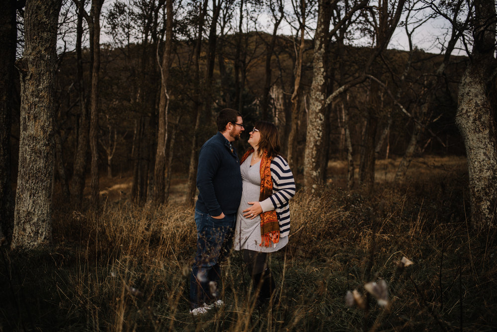 Sarah and Evan Maternity Session Shenandoah National Park Blue Ridge Mountains Skyline Drive Adventure Photographer White Sails Creative_6.JPG
