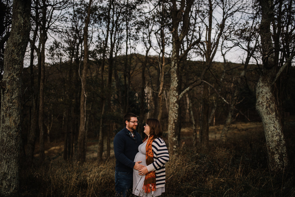 Sarah and Evan Maternity Session Shenandoah National Park Blue Ridge Mountains Skyline Drive Adventure Photographer White Sails Creative_7.JPG