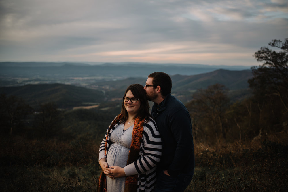 Sarah and Evan Maternity Session Shenandoah National Park Blue Ridge Mountains Skyline Drive Adventure Photographer White Sails Creative_10.JPG