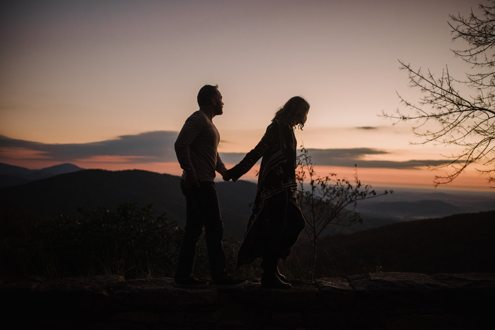 Macy and Mark - Shenandoah National Park - Fall Autumn Sunrise Couple Adventure Session - White Sails Creative - Mini Session_2.JPG