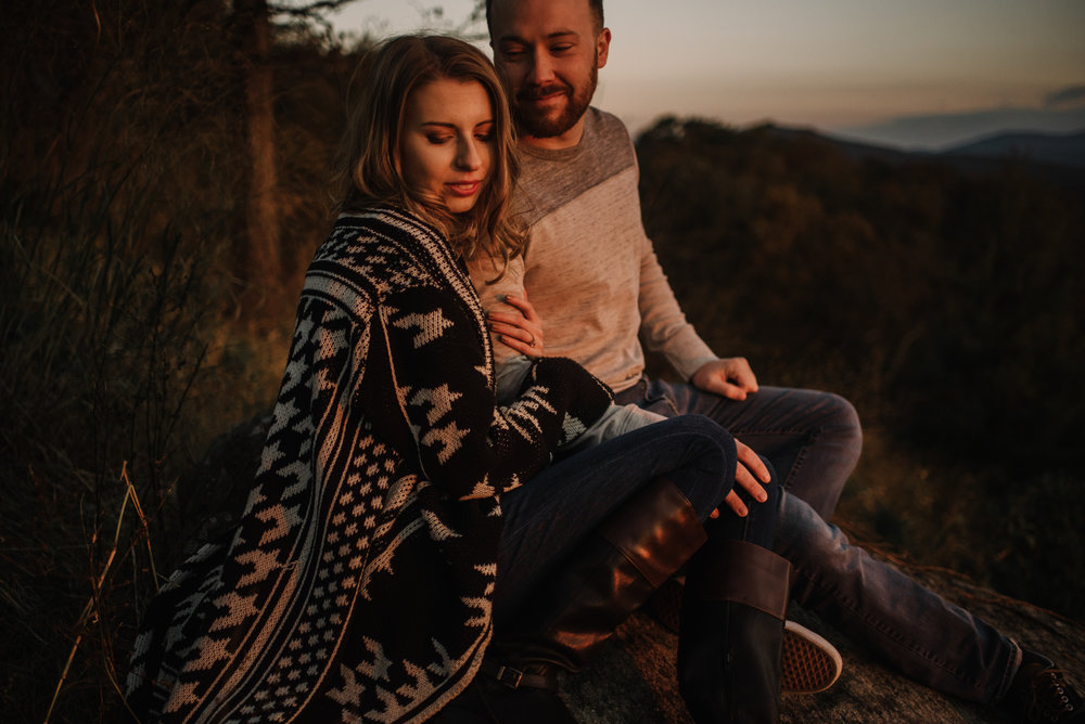 Macy and Mark - Shenandoah National Park - Fall Autumn Sunrise Couple Adventure Session - White Sails Creative - Mini Session_10.JPG