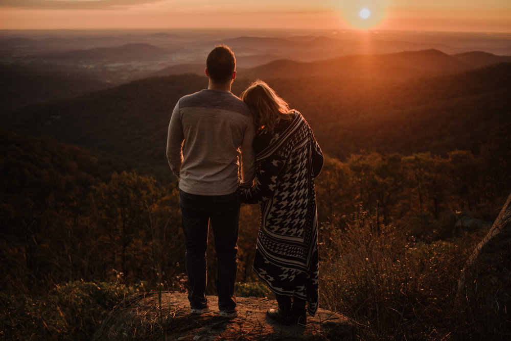 Macy and Mark - Shenandoah National Park - Fall Autumn Sunrise Couple Adventure Session - White Sails Creative - Mini Session_15.JPG