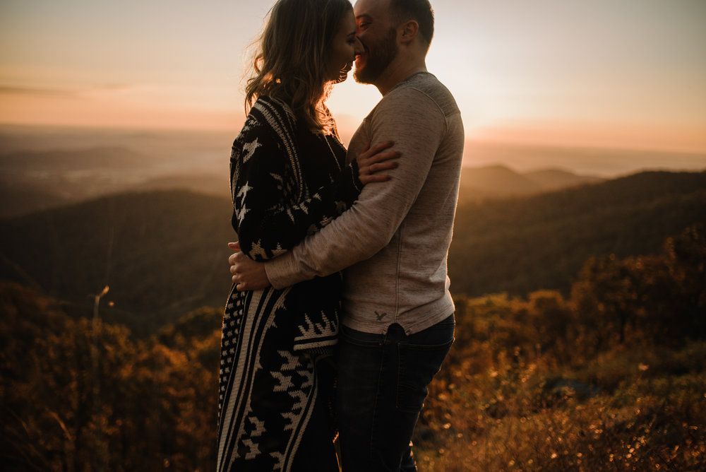 Macy and Mark - Shenandoah National Park - Fall Autumn Sunrise Couple Adventure Session - White Sails Creative - Mini Session_19.JPG