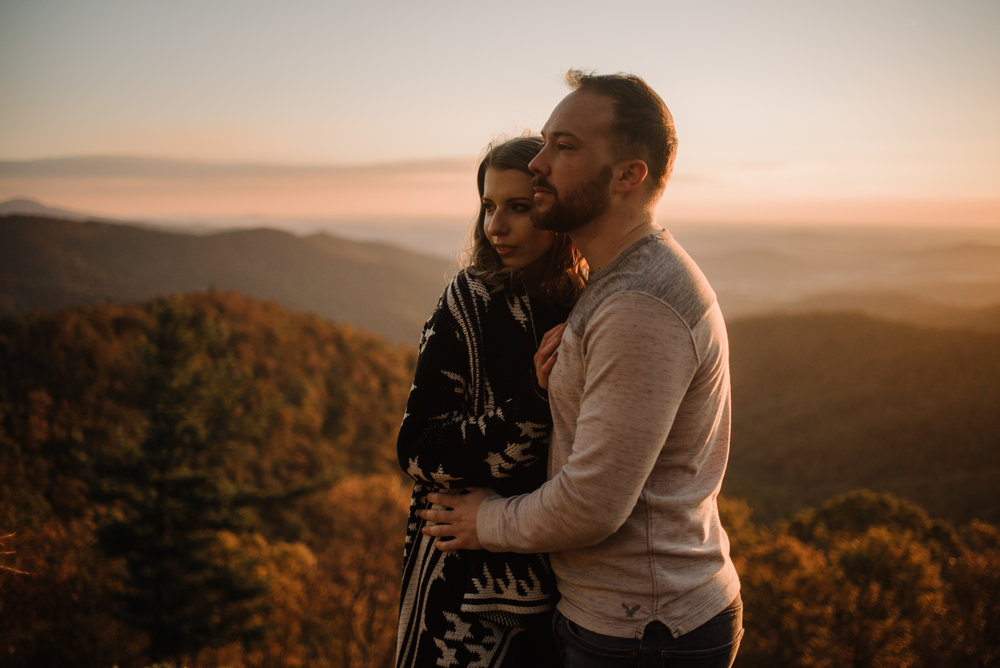 Macy and Mark - Shenandoah National Park - Fall Autumn Sunrise Couple Adventure Session - White Sails Creative - Mini Session_20.JPG