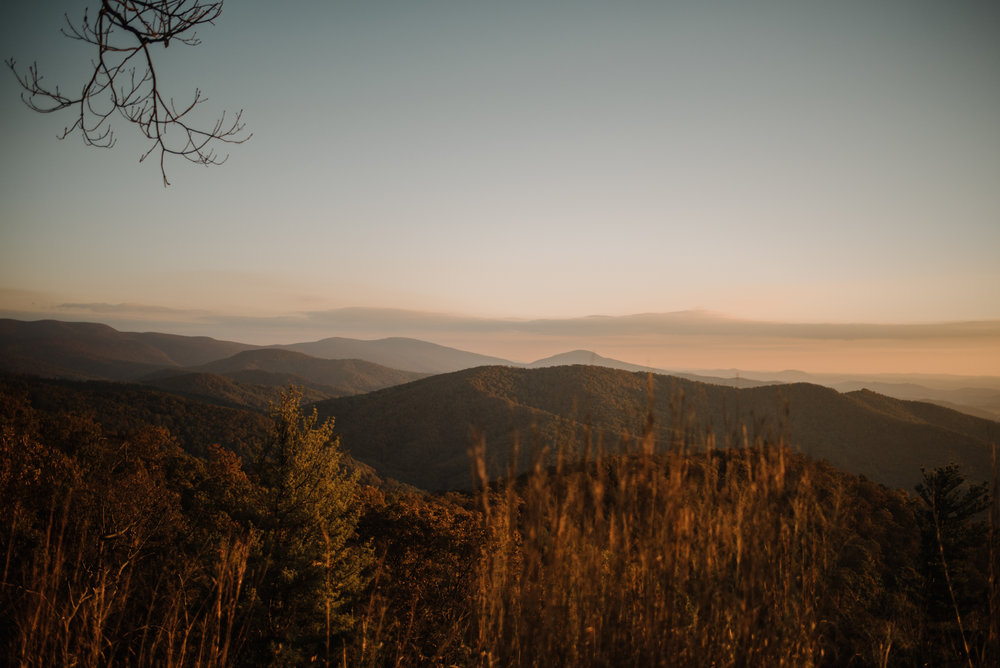 Macy and Mark - Shenandoah National Park - Fall Autumn Sunrise Couple Adventure Session - White Sails Creative - Mini Session_25.JPG