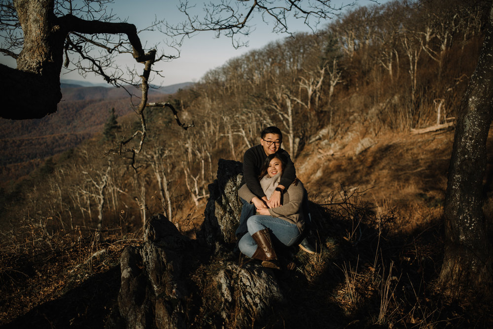 Joshua and Kristina - Shenandoah National Park - Skyline Drive - Winter Engagement Session Photographer - White Sails Creative_1.JPG