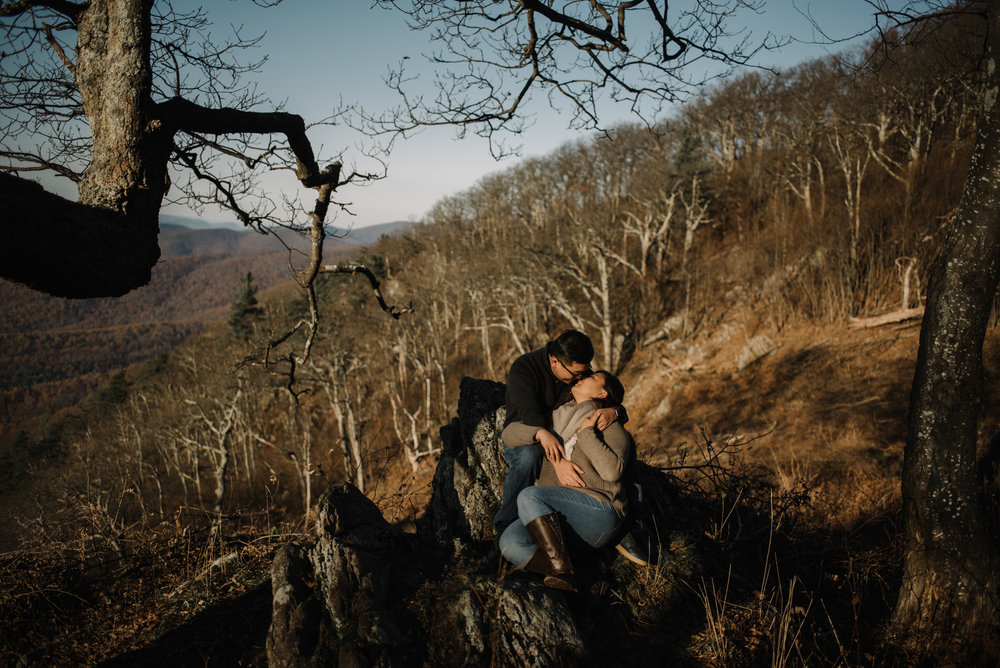 Joshua and Kristina - Shenandoah National Park - Skyline Drive - Winter Engagement Session Photographer - White Sails Creative_3.JPG