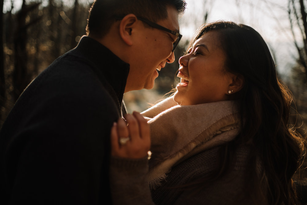 Joshua and Kristina - Shenandoah National Park - Skyline Drive - Winter Engagement Session Photographer - White Sails Creative_8.JPG