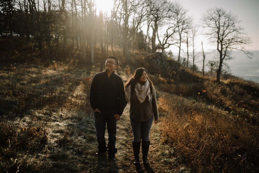 Joshua and Kristina - Shenandoah National Park - Skyline Drive - Winter Engagement Session Photographer - White Sails Creative_14.JPG
