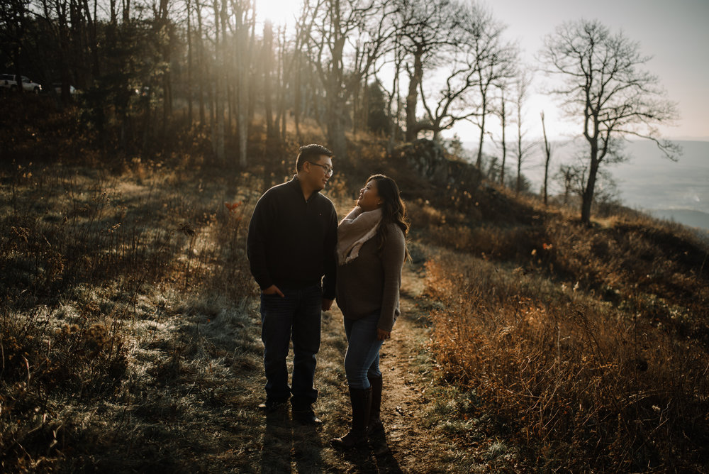 Joshua and Kristina - Shenandoah National Park - Skyline Drive - Winter Engagement Session Photographer - White Sails Creative_15.JPG