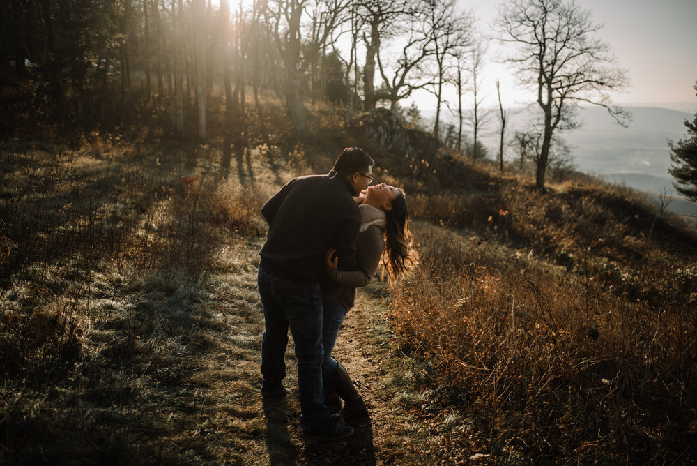 Joshua and Kristina - Shenandoah National Park - Skyline Drive - Winter Engagement Session Photographer - White Sails Creative_16.JPG