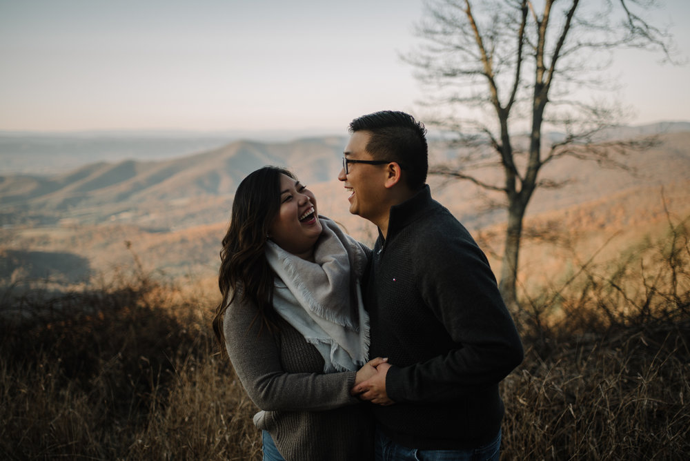 Joshua and Kristina - Shenandoah National Park - Skyline Drive - Winter Engagement Session Photographer - White Sails Creative_20.JPG