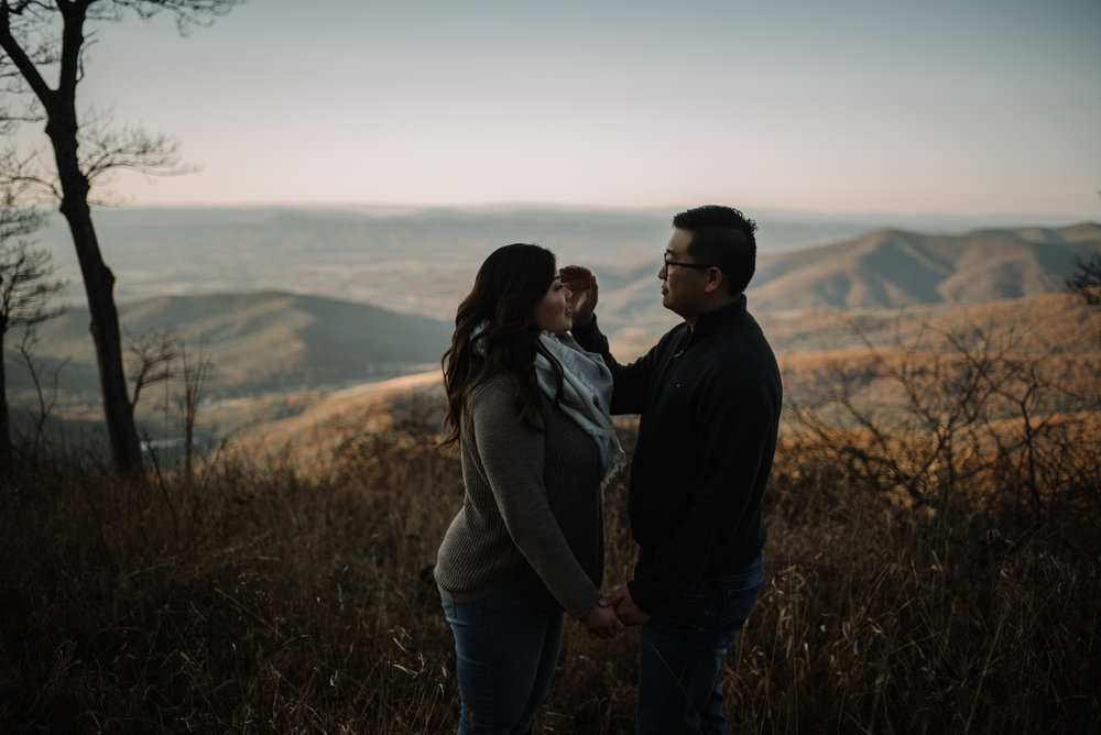 Joshua and Kristina - Shenandoah National Park - Skyline Drive - Winter Engagement Session Photographer - White Sails Creative_22.JPG