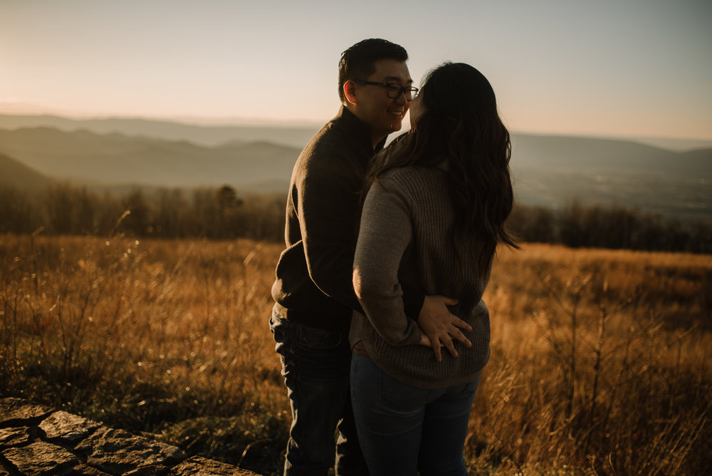 Joshua and Kristina - Shenandoah National Park - Skyline Drive - Winter Engagement Session Photographer - White Sails Creative_26.JPG