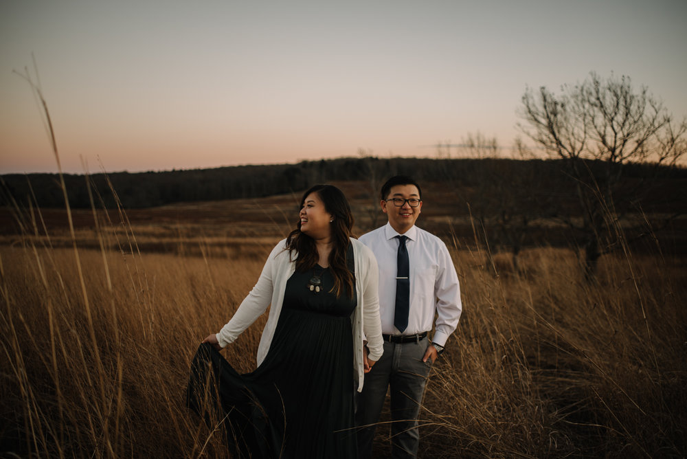 Joshua and Kristina - Shenandoah National Park - Skyline Drive - Winter Engagement Session Photographer - White Sails Creative_39.JPG