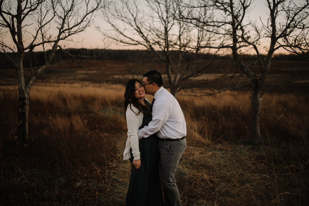 Joshua and Kristina - Shenandoah National Park - Skyline Drive - Winter Engagement Session Photographer - White Sails Creative_40.JPG
