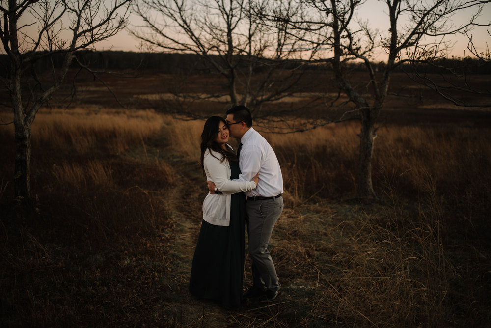Joshua and Kristina - Shenandoah National Park - Skyline Drive - Winter Engagement Session Photographer - White Sails Creative_41.JPG