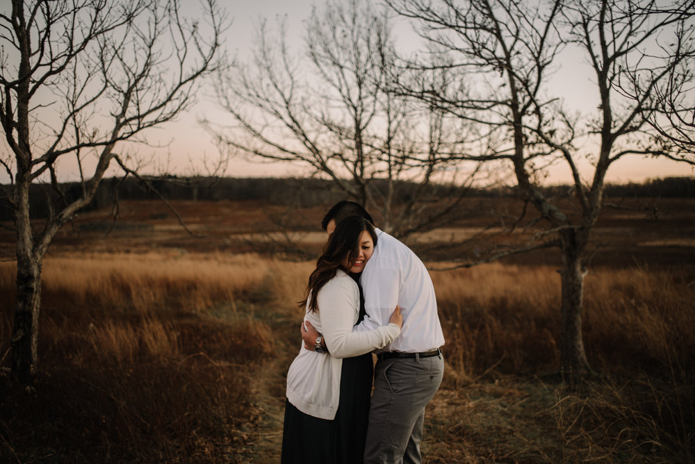 Joshua and Kristina - Shenandoah National Park - Skyline Drive - Winter Engagement Session Photographer - White Sails Creative_42.JPG