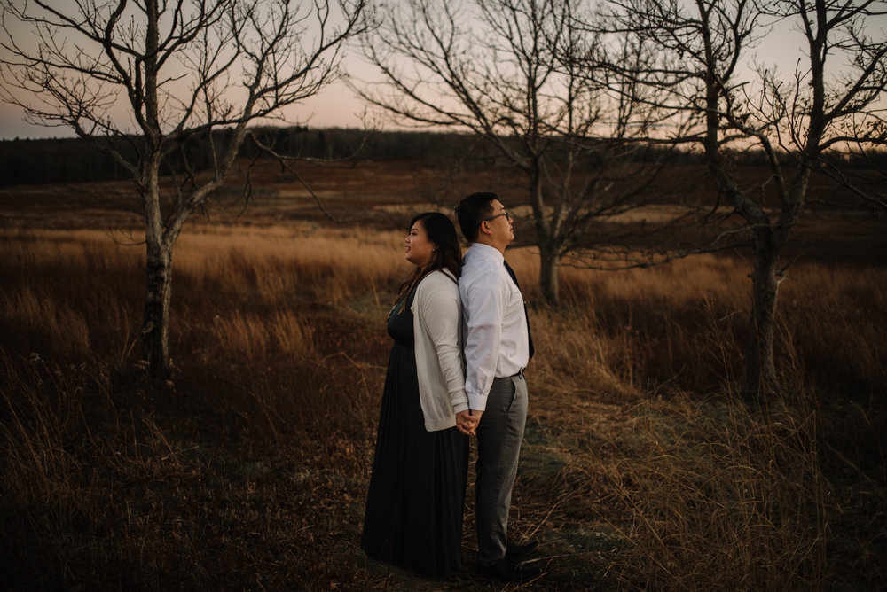 Joshua and Kristina - Shenandoah National Park - Skyline Drive - Winter Engagement Session Photographer - White Sails Creative_43.JPG