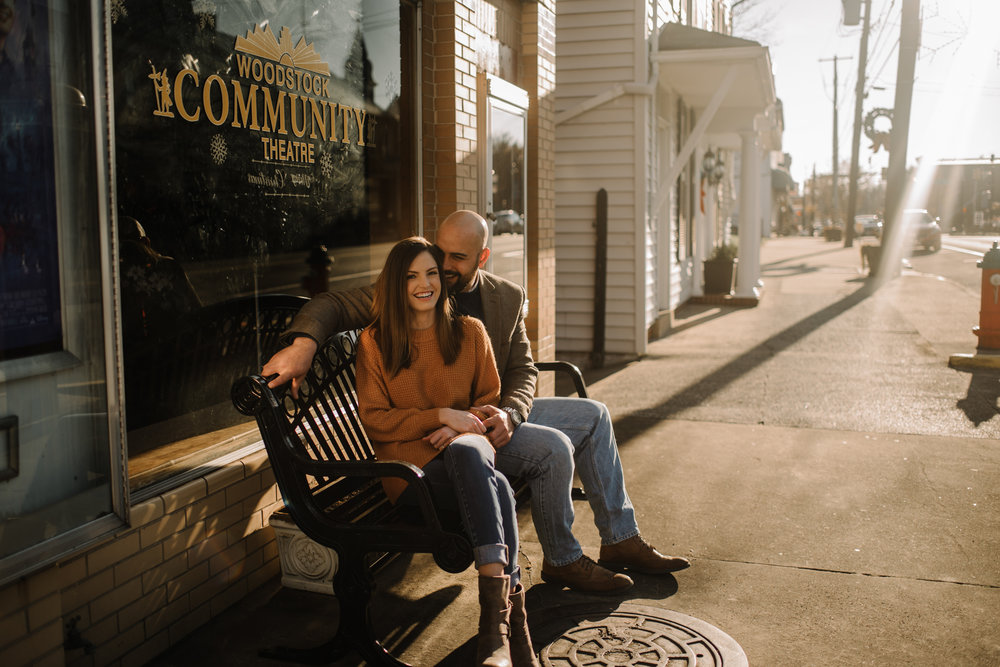 Emily and Hoyle - Shenandoah Valley Engagement Session - Winter Sunset - Downtown Old Movie Theater - Back yard Virginia Farm Wedding_4.JPG