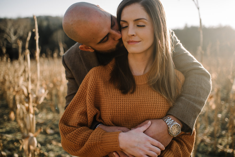 Emily and Hoyle - Shenandoah Valley Engagement Session - Winter Sunset - Downtown Old Movie Theater - Back yard Virginia Farm Wedding_7.JPG