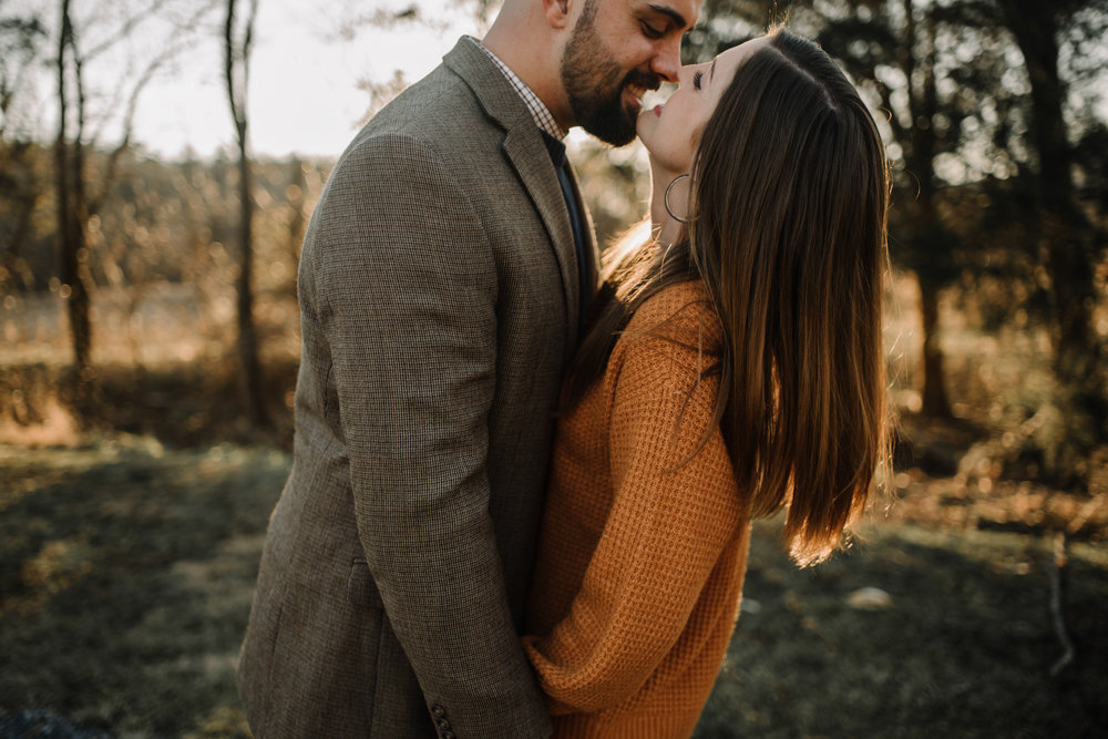 Emily and Hoyle - Shenandoah Valley Engagement Session - Winter Sunset - Downtown Old Movie Theater - Back yard Virginia Farm Wedding_13.JPG