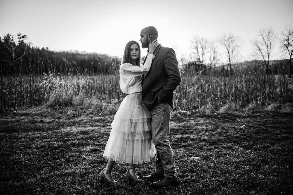 Emily and Hoyle - Shenandoah Valley Engagement Session - Winter Sunset - Downtown Old Movie Theater - Back yard Virginia Farm Wedding_41.JPG