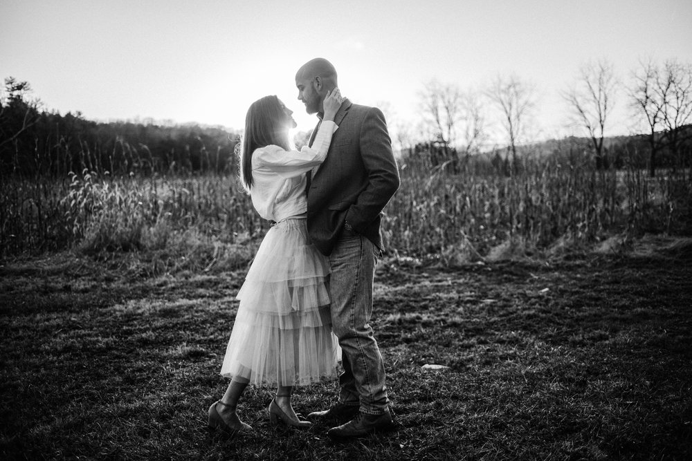 Emily and Hoyle - Shenandoah Valley Engagement Session - Winter Sunset - Downtown Old Movie Theater - Back yard Virginia Farm Wedding_42.JPG