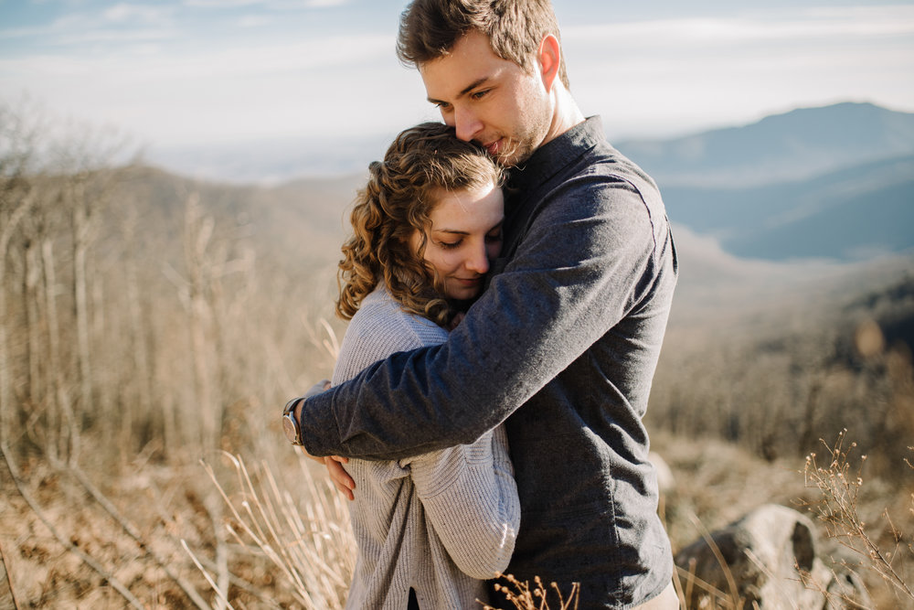 Alli and Mitchell - Shenandoah National Park Adventure Winter Engagement Session on Skyline Drive - White Sails Creative Elopement Photography_21.JPG