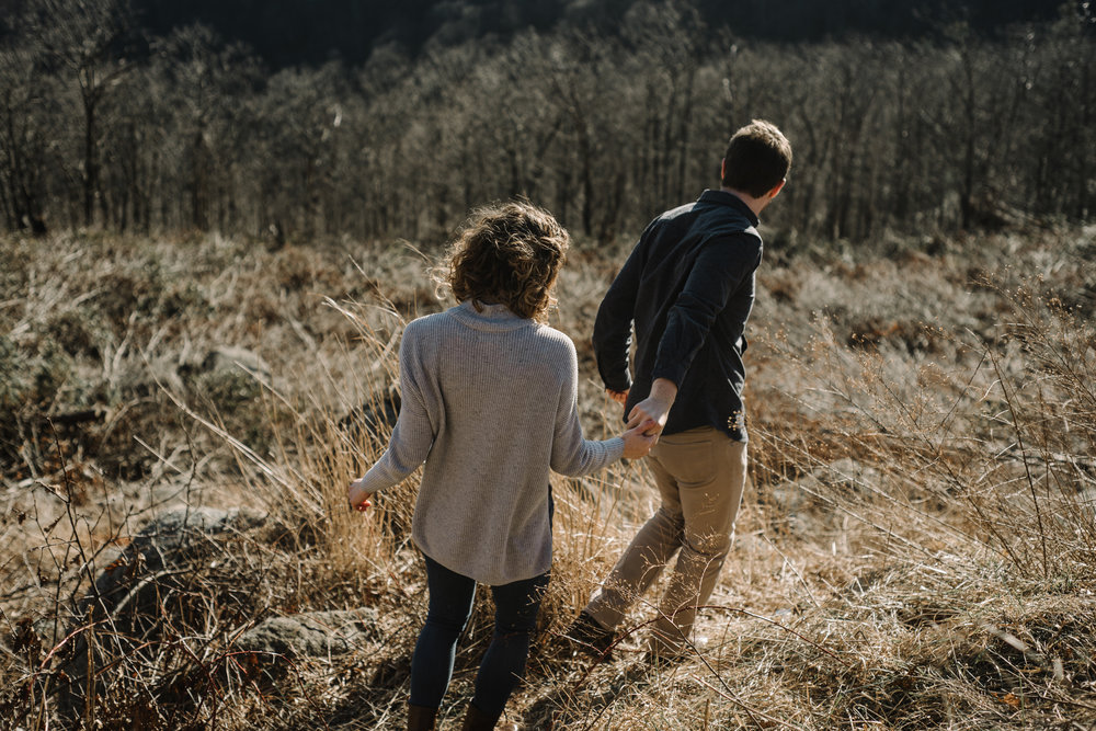 Alli and Mitchell - Shenandoah National Park Adventure Winter Engagement Session on Skyline Drive - White Sails Creative Elopement Photography_18.JPG