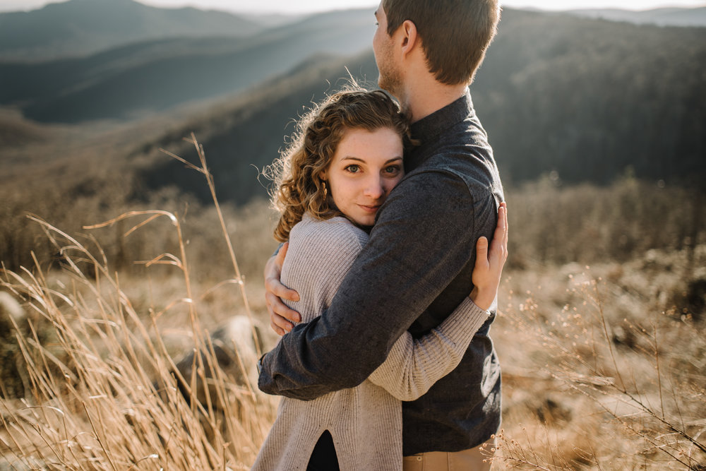 Alli and Mitchell - Shenandoah National Park Adventure Winter Engagement Session on Skyline Drive - White Sails Creative Elopement Photography_22.JPG